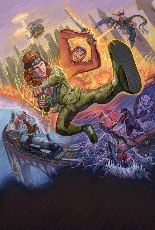 Ninja The Mission Force 2 | Neon Harbor | Digital Paint