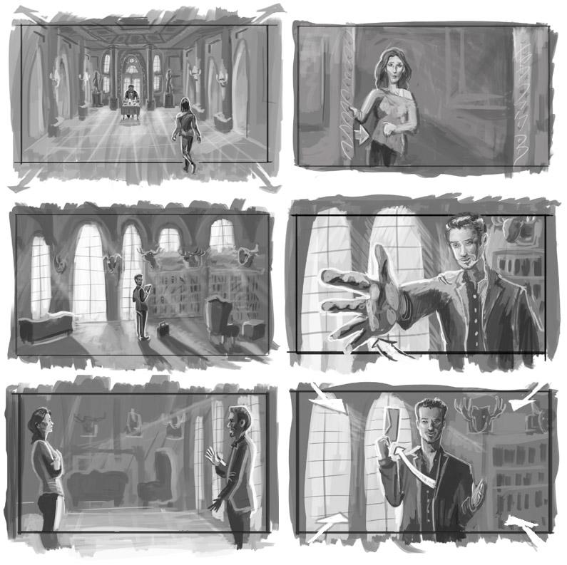 Panacea Storyboards | Digital Paint