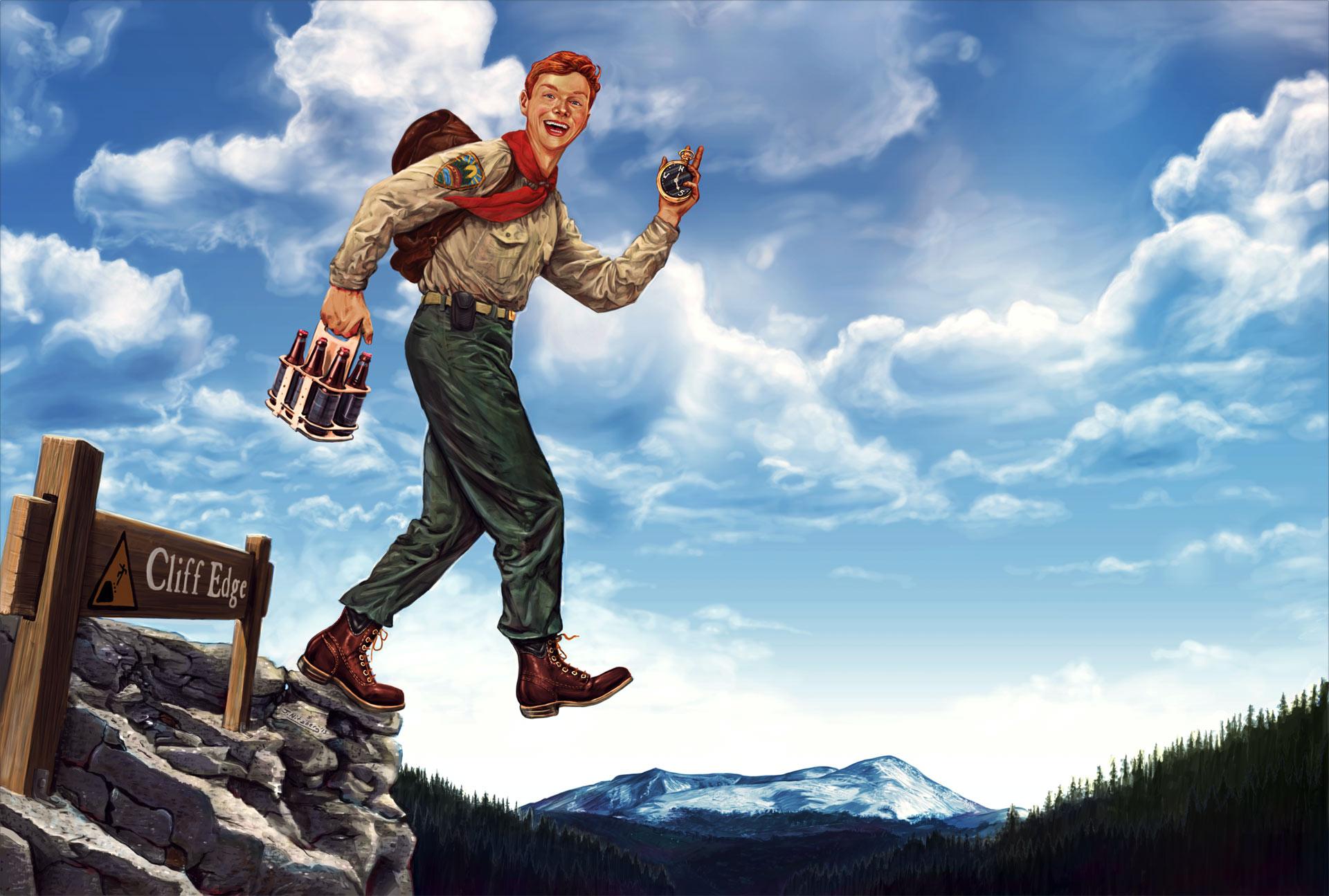 Boy Scout Beer | Digital Paint