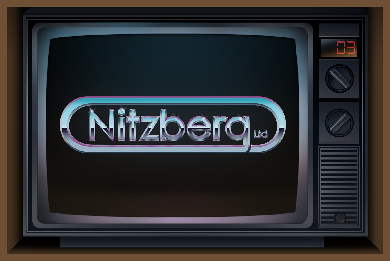 Nitzberg Ltd. Retro Chrome Logo | Photoshop