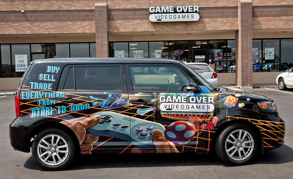 Gameover VideogamesVan Wrap | Photoshop