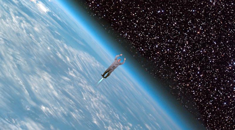 Jeff flies into space thanks to his Kickstarter backers.