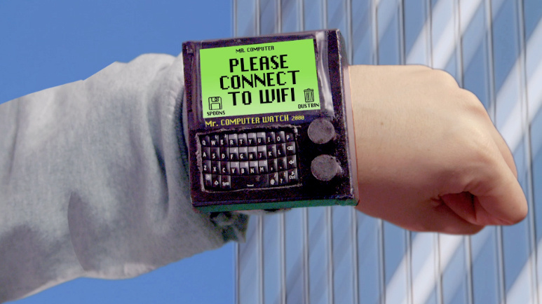 Mr. Computer Watch 2000: a state-of-the-art super computer jammed into a slim and sexy wrist watch.