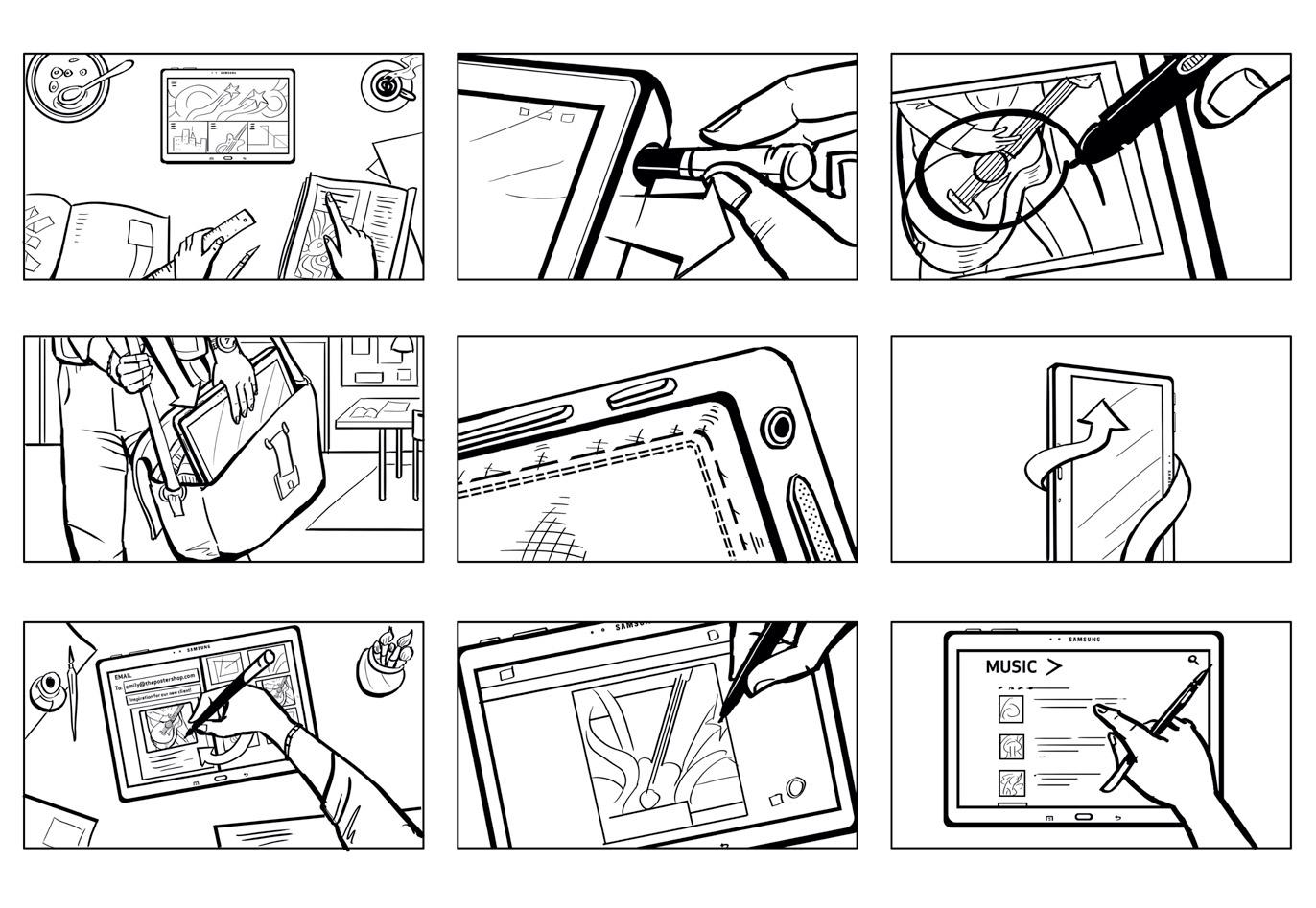 Tablet Stylus Detail Storyboards | Digital Ink