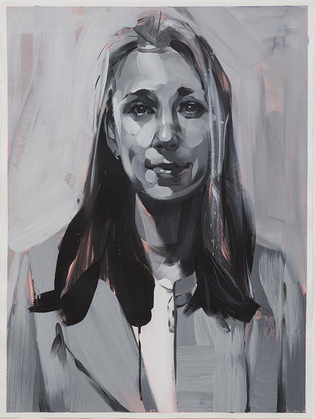 "Rebecca Campbell,  Alexandra  , 2015, acrylic on paper, 30"" x 22"""