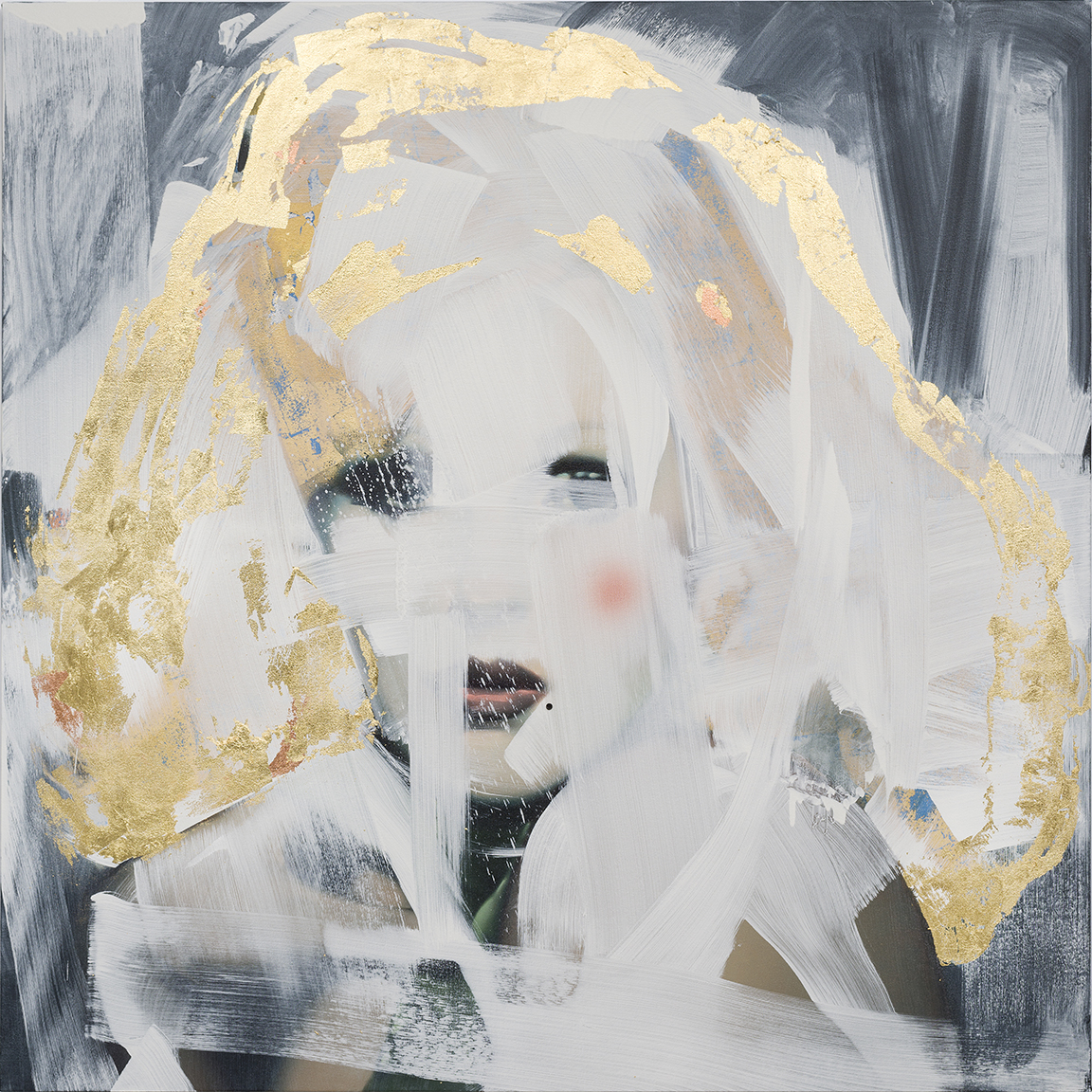 "Rebecca Campbell, Candy Darling, 2015, oil on canvas, 60"" x 60"""