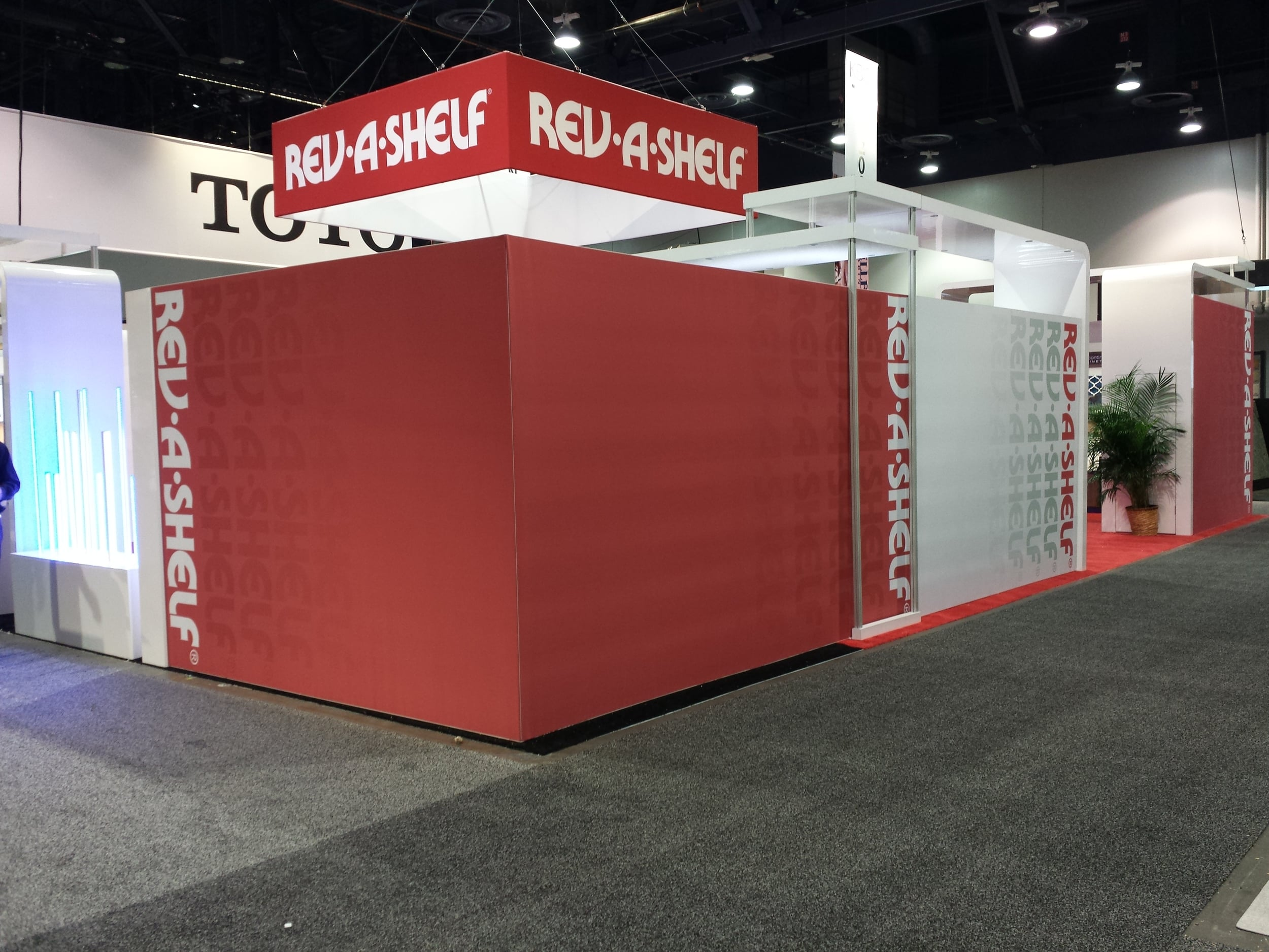 Rev-A-Shelf's booth from the 2015 Kitchen and Bath Industry Show