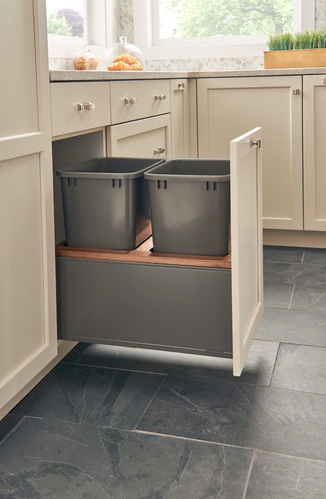 Orion gray frame and containers with walnut insert