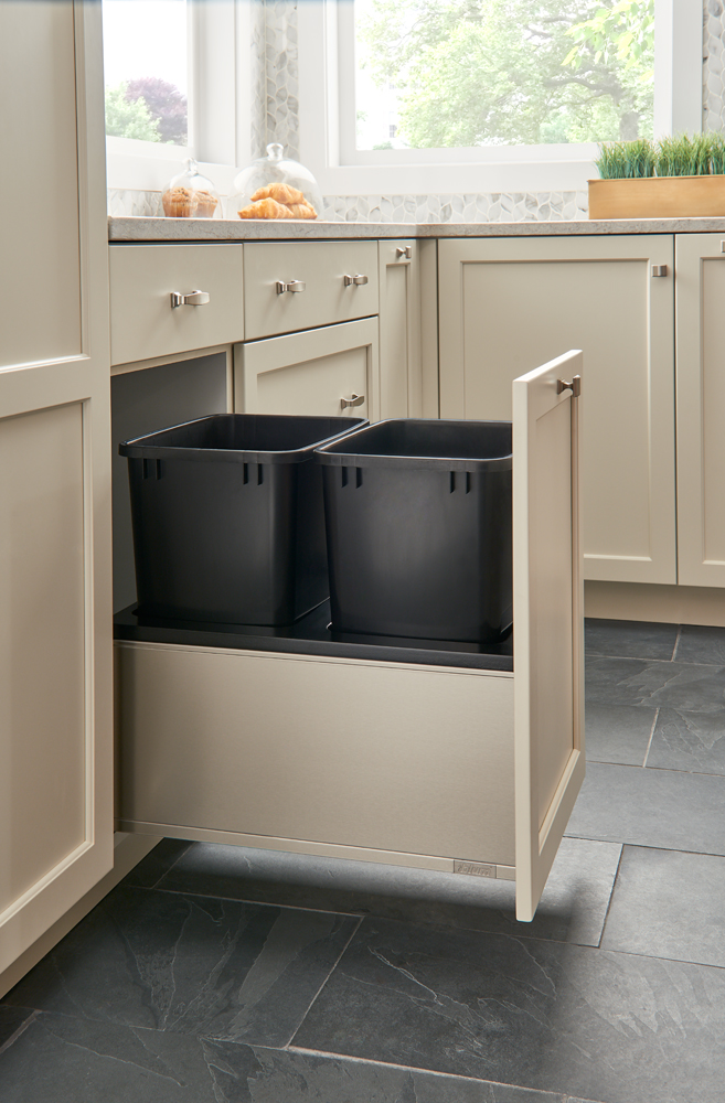 Stainless steel with black containers and inserts