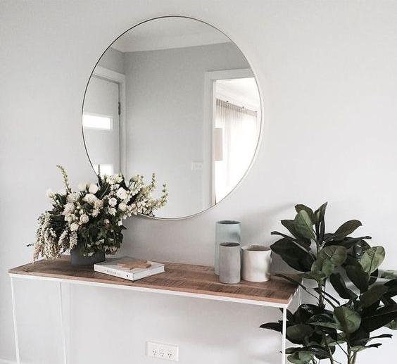 No nonsense functional mirror.