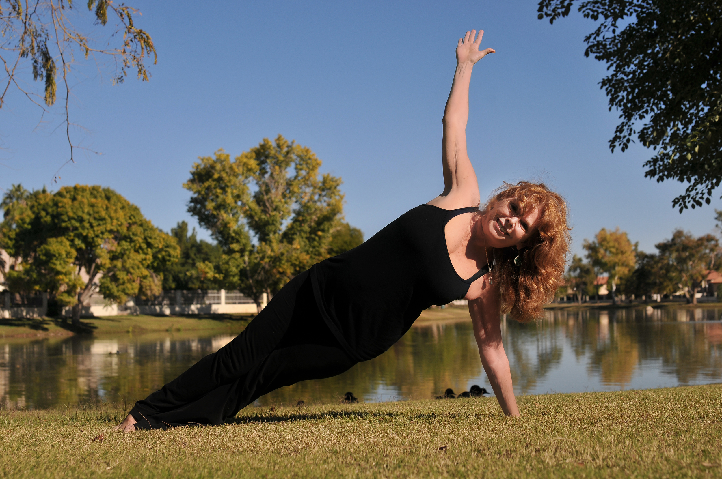 DeAnna in Side Plank Pose