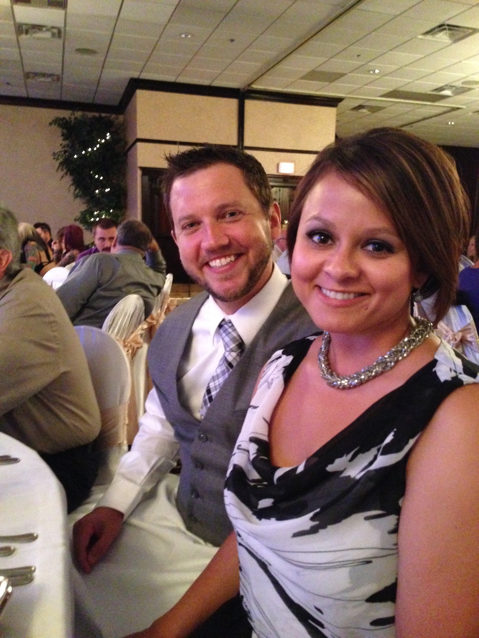 Brent and fiance Kimberly