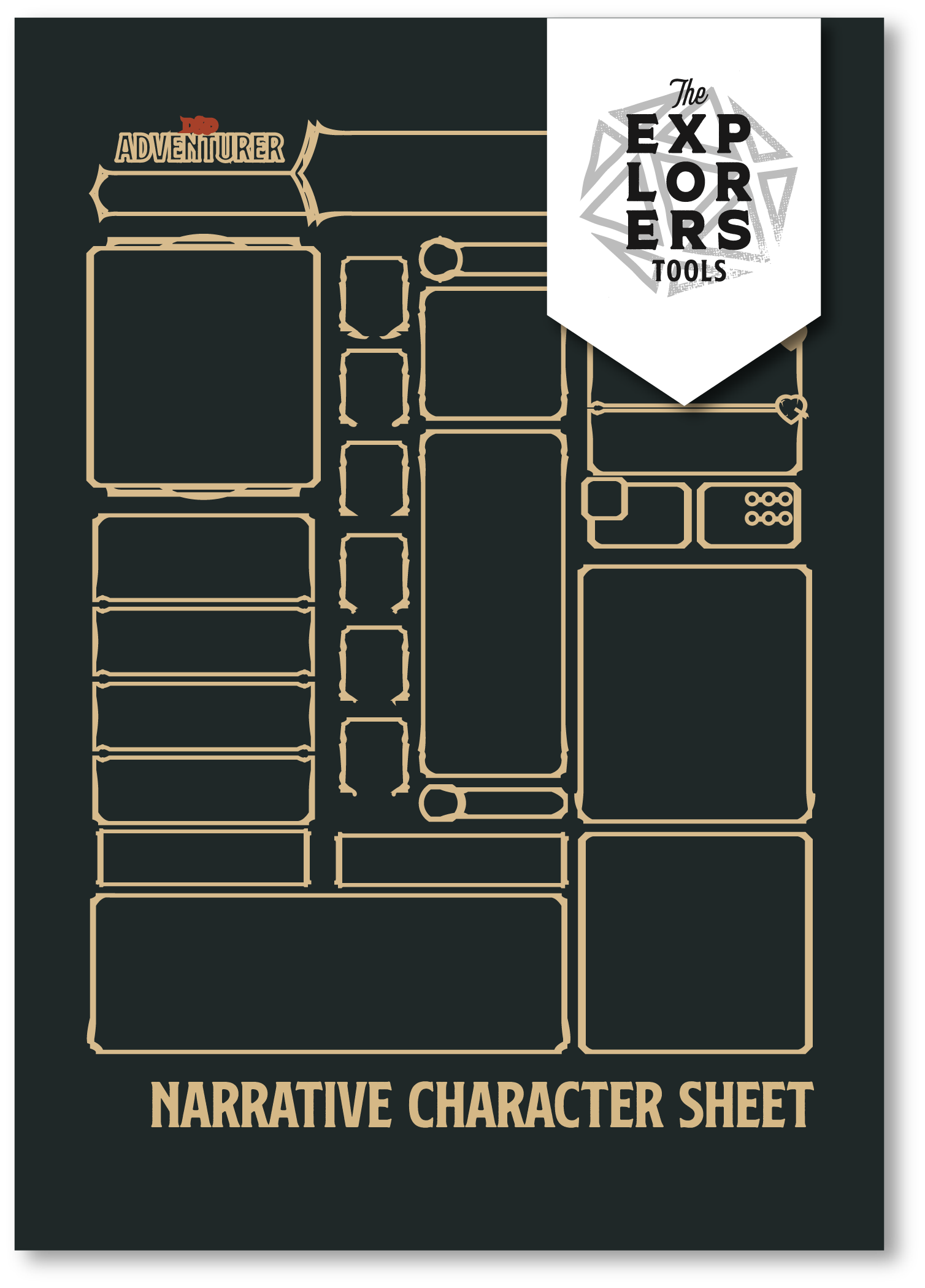Narrative Character Sheet /  Tools Published January 2019  Click for Shop.