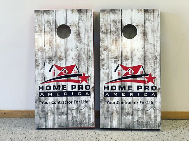 Custom white-washed barn wood bag boards for our friends @home_pro_america 👊🇺🇸 #BlackFireCreative #WeWrapEverything