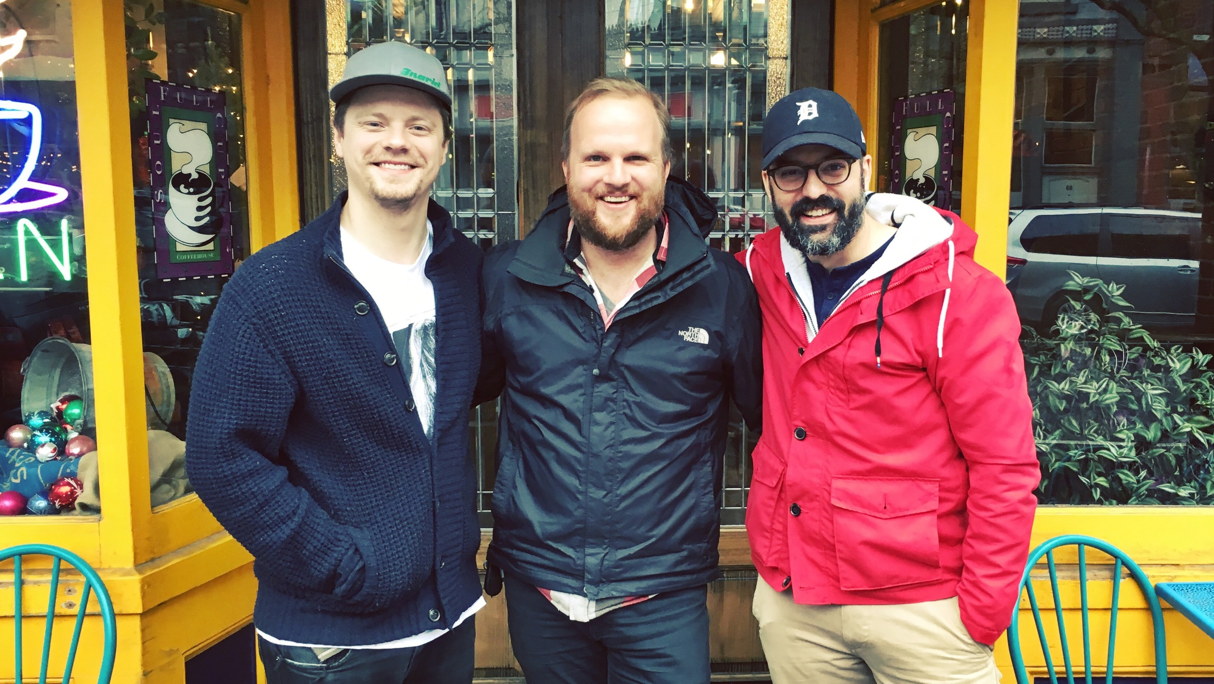 """The 2016 Empire State Filmmaker Award honorees for """"Here Alone"""" (from left): Noah Lang, Producer; Rod Blackhurst, Director/Producer, and David Ebeltoft, Writer/Producer."""