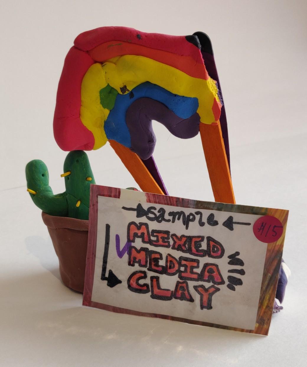 Mixed Media Clay Sculptures