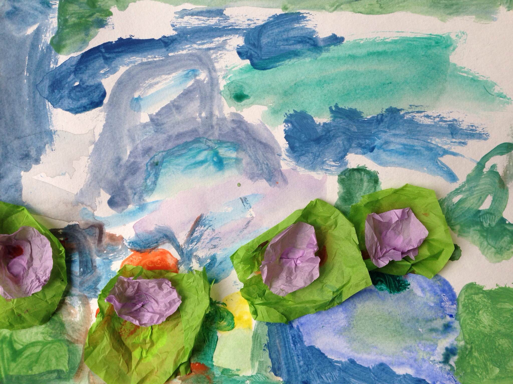 monet water lillies inspired art