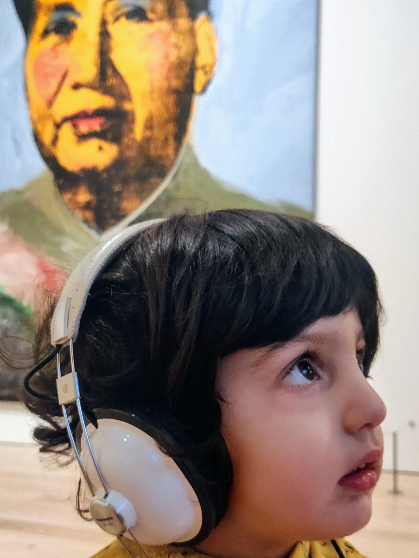 toddler in museum