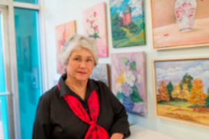 """Mary Rouse    Harrisonburg, VA    Oil Paintings     Member Since March 2016    As a 71 year old widow, I have not been able to fully retire. Throughout my life, I have baby-sat, bagged groceries, taught school, taught workshops in art and music, sold earrings, and had private piano students for the past 53 years. With a Master's Degree in Education, plus 80+ hours of credit in art, I have worked part time, full time, and all the time to stay financially afloat while going through college, raising two children, being care giver to a husband with leukemia, then widowed at 52. Believe me, it is extremely difficult to get back into a full-time position with education, experience, and gray hair! During my late husband's illness he attempted to train me in business procedures which would enable me to be self-supporting while doing things I enjoyed. It was round the clock work but what he taught me saw me through until Medicare and a small retirement income kicked in.  Because fixed income does not consider inflation realistically, I am continuing to teach students in my tiny cottage and peddle some of my creations. There are still unexpected expenses, along with car maintenance, health and other insurances, eye care, dental care and increasing food costs to deal with in addition to housing. These costs all seem to grow as one ages. I have lost my dog, but cannot add that expense back into my budget.  I live a happy, simple but fulfilling, busy life but have to cut corners in many ways as I piece together my income to live these golden years some folks call """"retirement"""". Ushering at Court Square Theater enables me to see top notch movies and shows free. Playing dinner music occasionally provides a free meal as payment. I do a variety of Volunteer Services with the Arts Council, Sunnyside Retirement Community (where my mother is in Health Care), and my church. This provides cheap entertainment, mental stimulation, interaction with varied age groups, and the feeling that I a"""