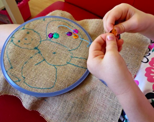The Art of Needlework  introduces students to needlework techniques and fabric artists