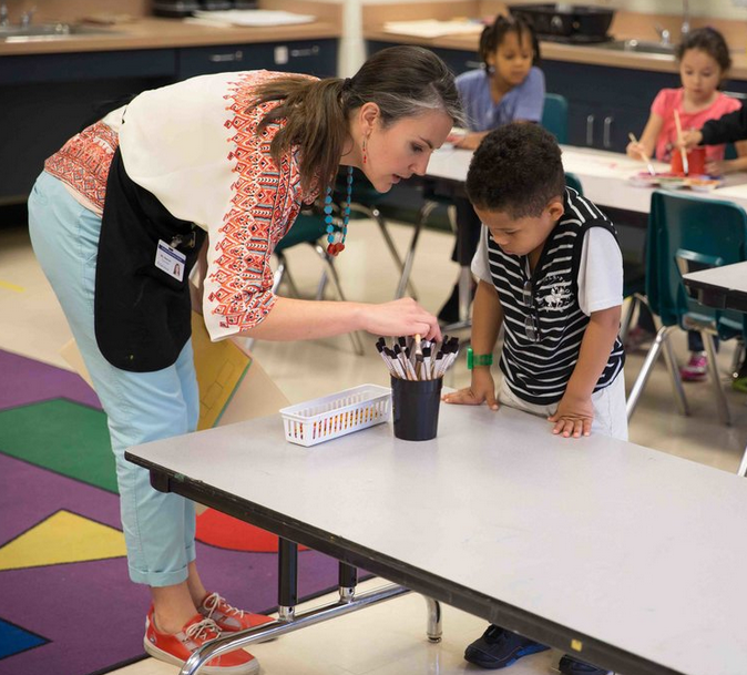 Kate Nesmith of Strone Spring Elementary engages young students in the arts
