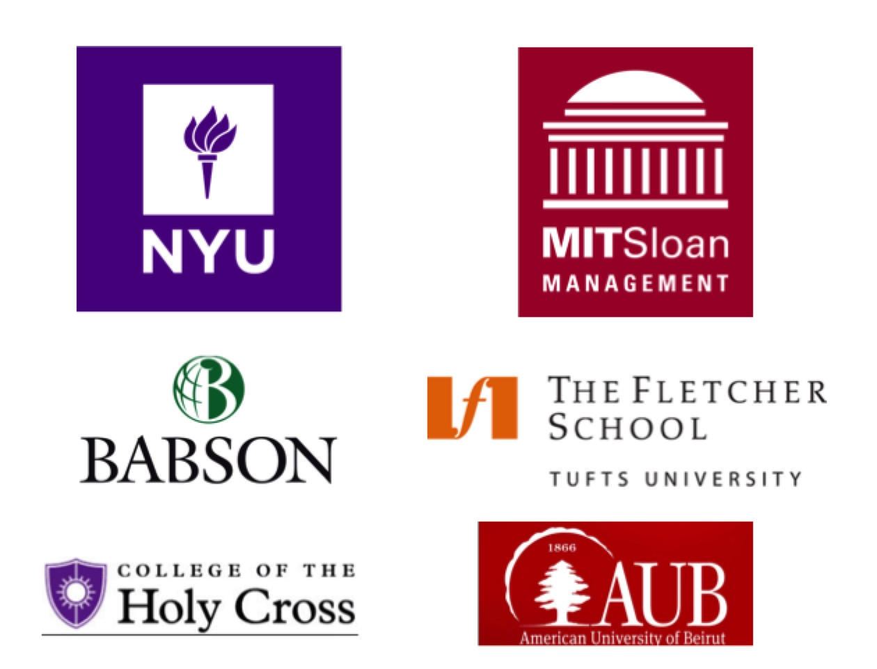 - ...and here are some of the colleges and universities that invited us to speak or participate in panels: