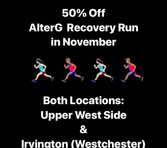 Sloane Stecker Physical Therapy Upper West Side and Westchester AlterG recovery run