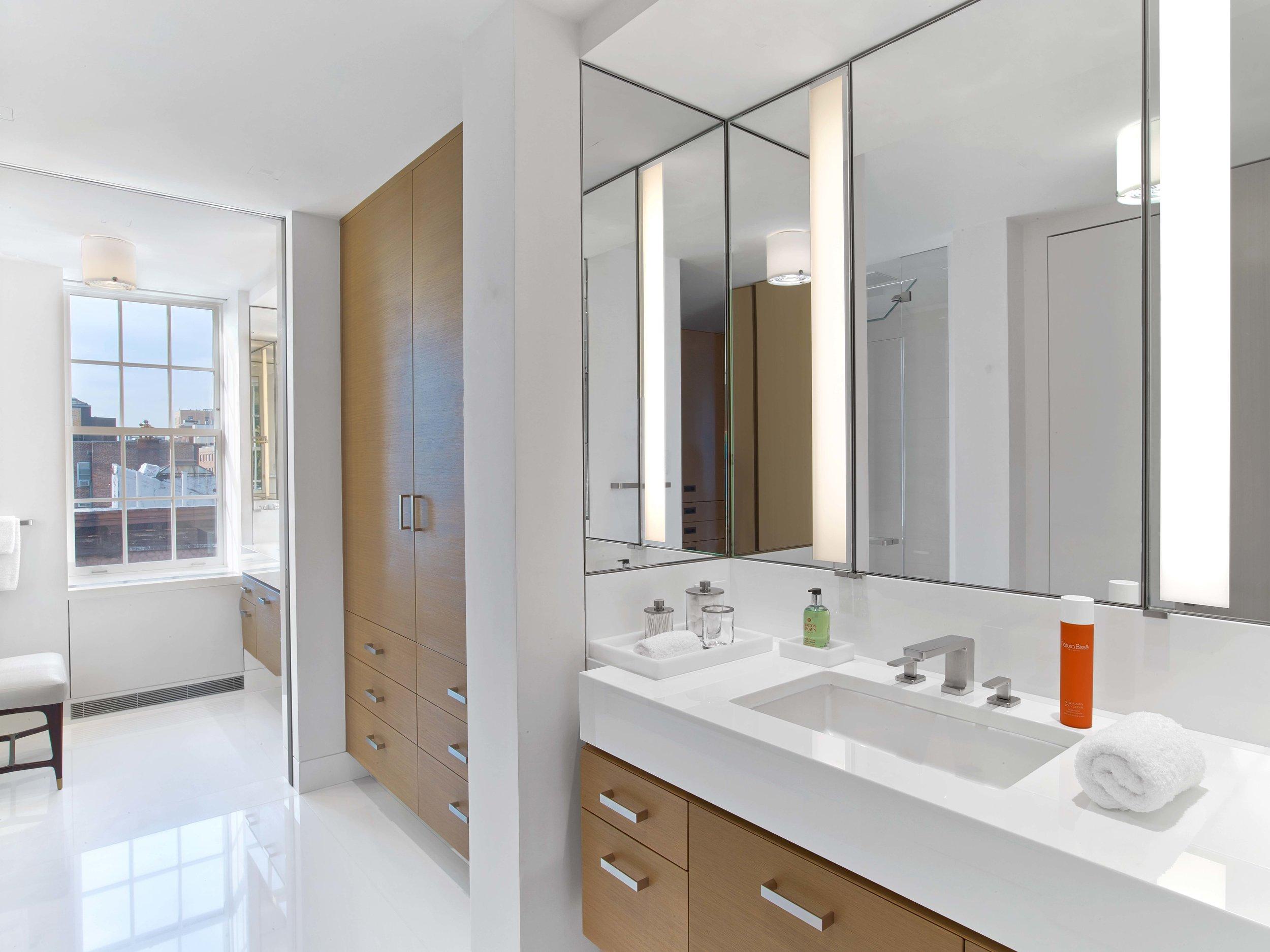 West Village Pied-a-Terre Master Bathroom