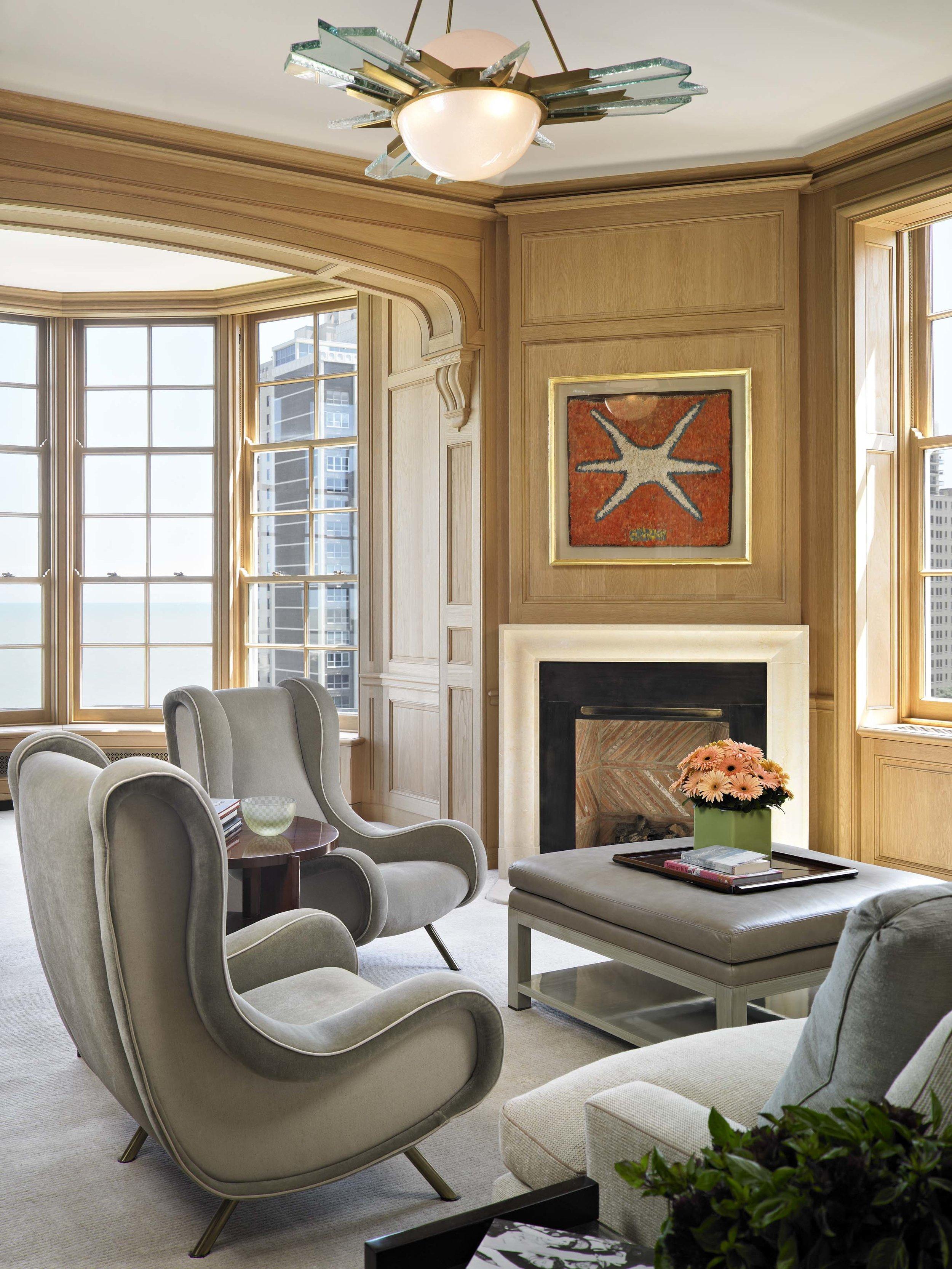 Lakeshore Drive Apartment Master Sitting Room