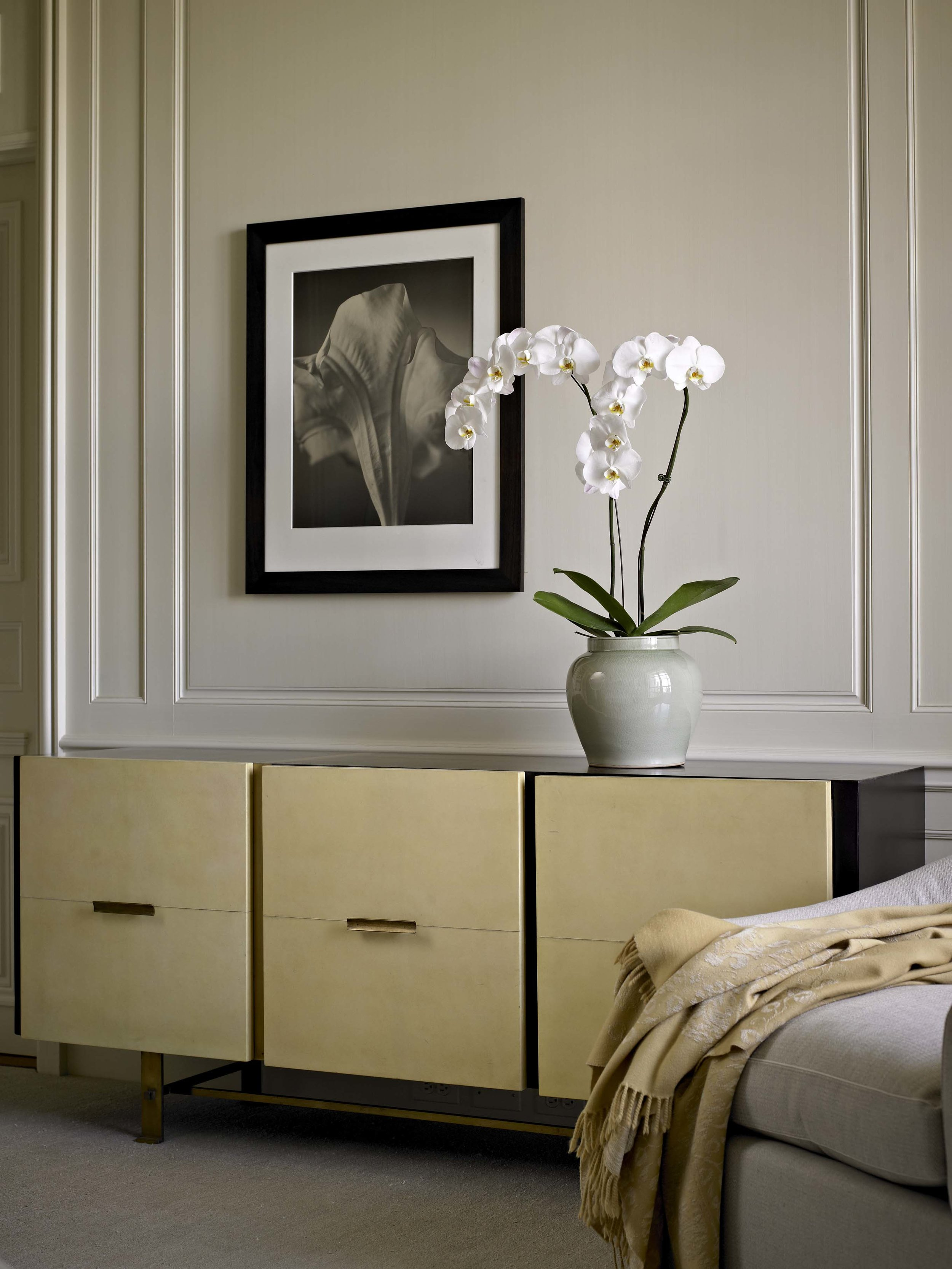 Lakeshore Drive Apartment Master Bedroom Detail