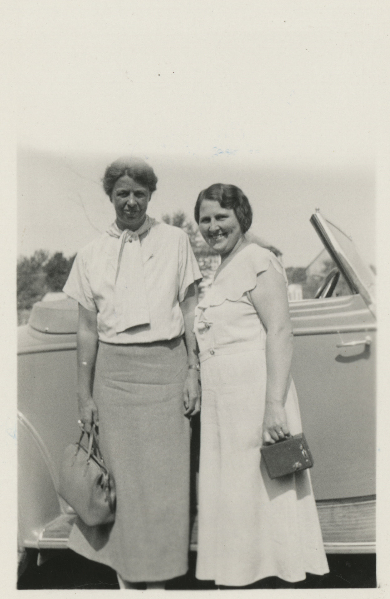 Eleanor Roosevelt during her road trip with Lorena Hickok, July 1933. Credit: Franklin D. Roosevelt Library