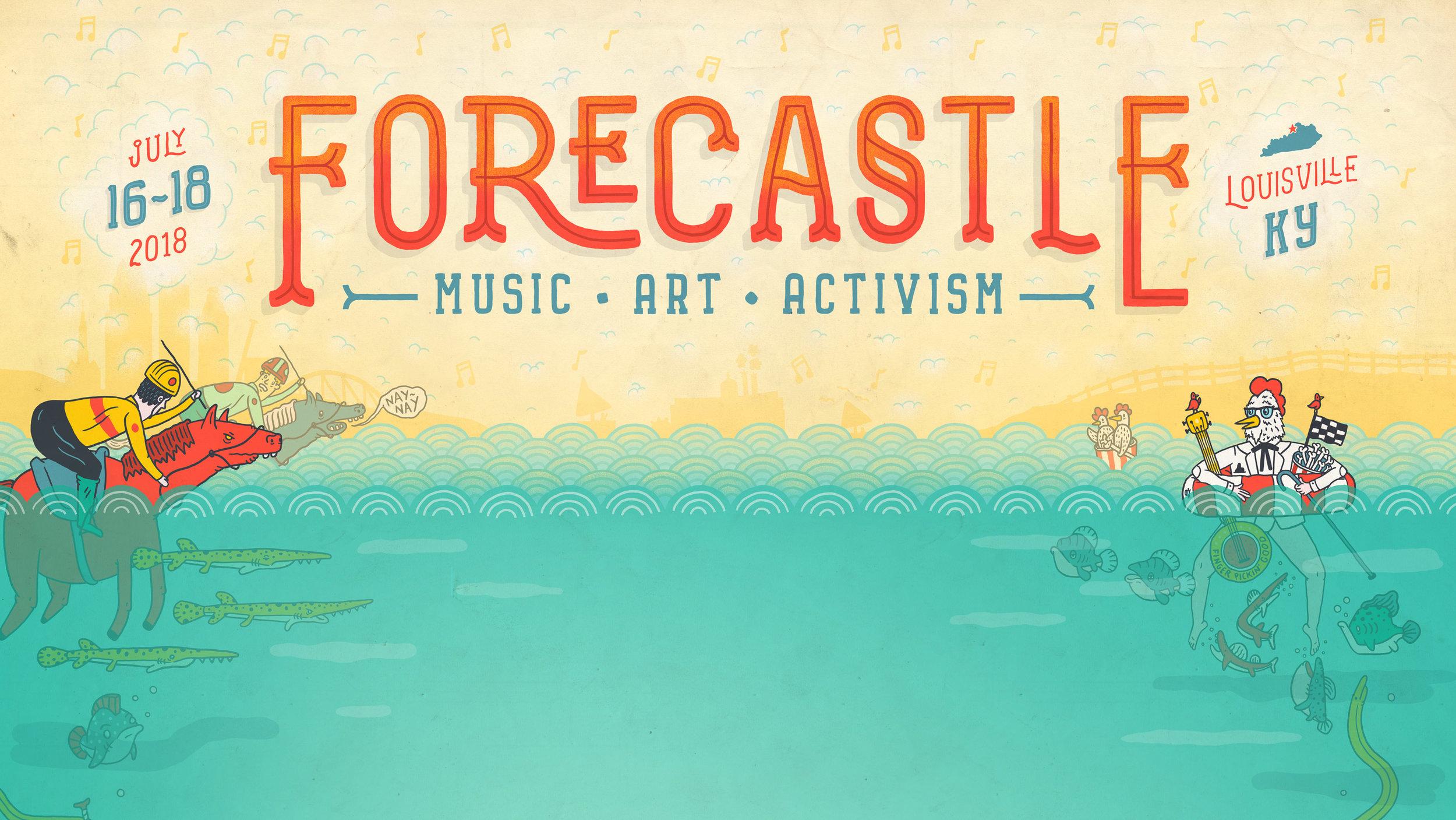 Forecastle Music Festival Poster & Illustrations