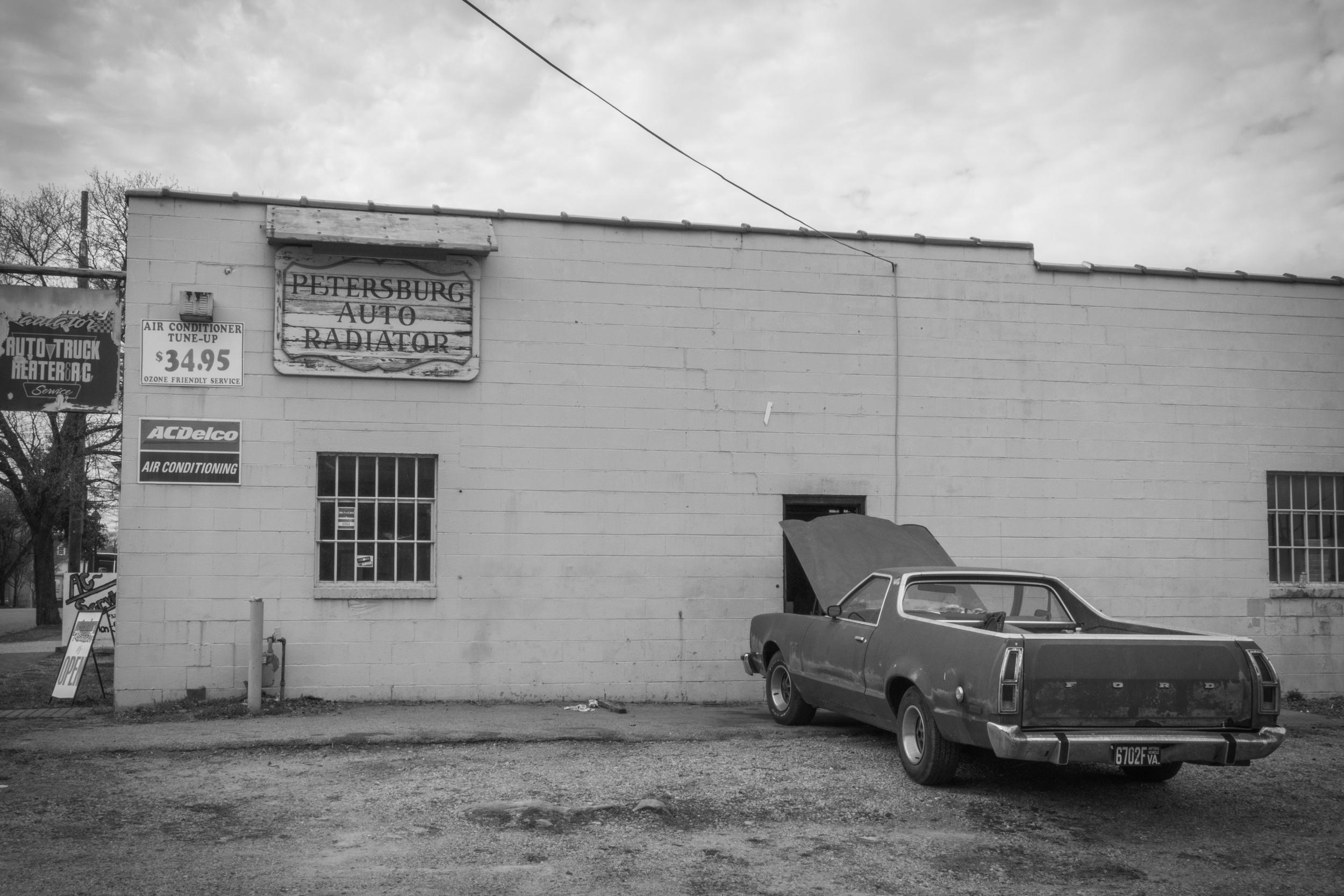 "Petersburg Auto Radiator, 16""x21"", Gelatin Silver Print, 2015"