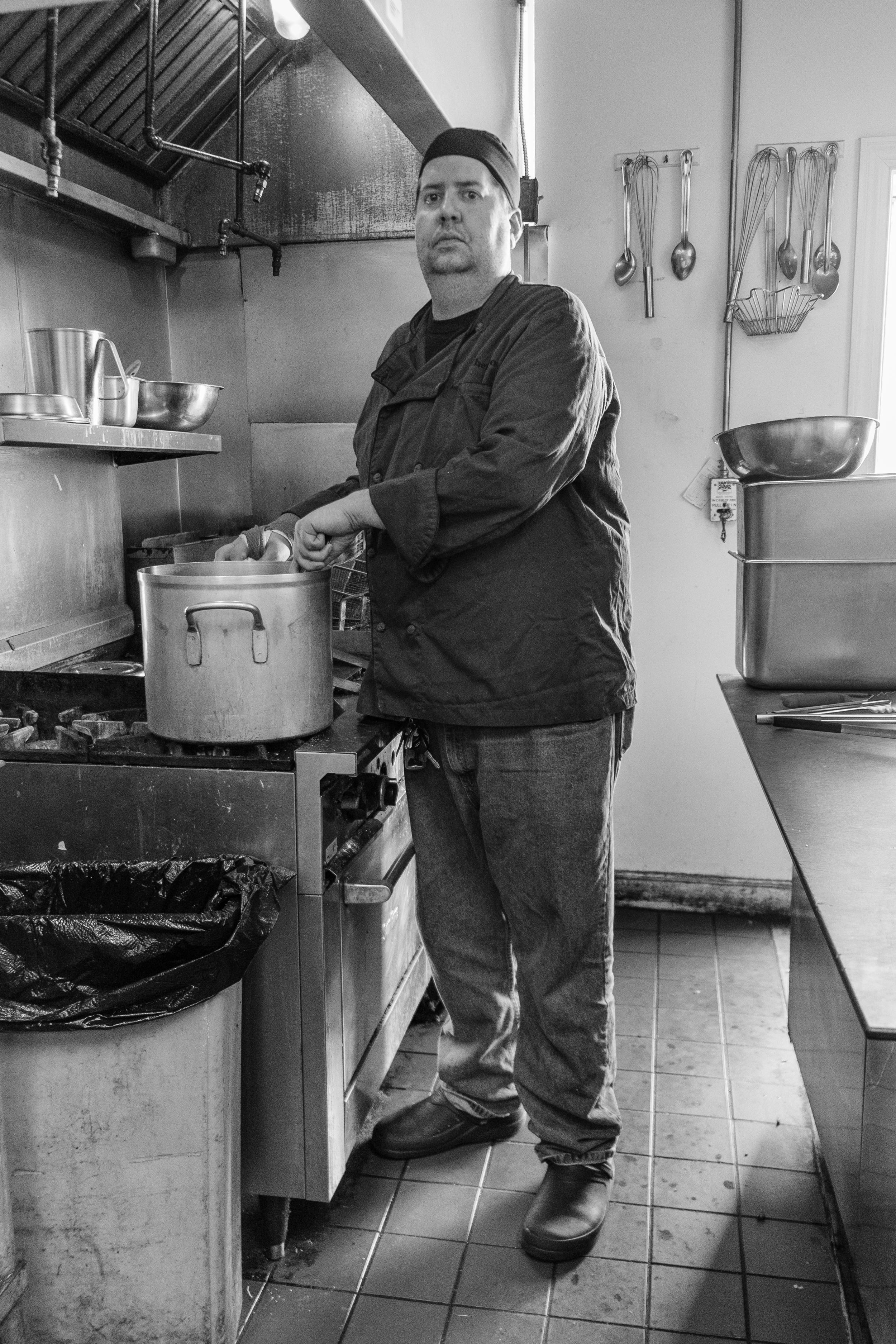 "The Chef, 20""x26"", Gelatin Silver Print, 2015"
