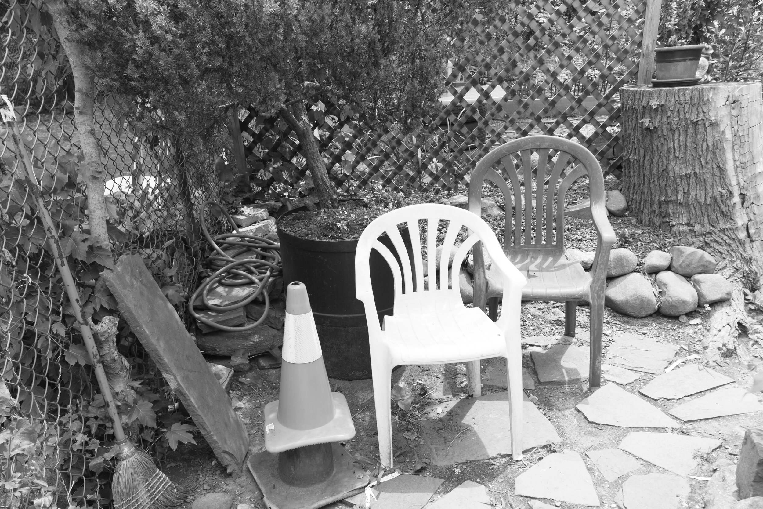 "Two Chairs, 16""x21"", Gelatin Silver Print, 2014"