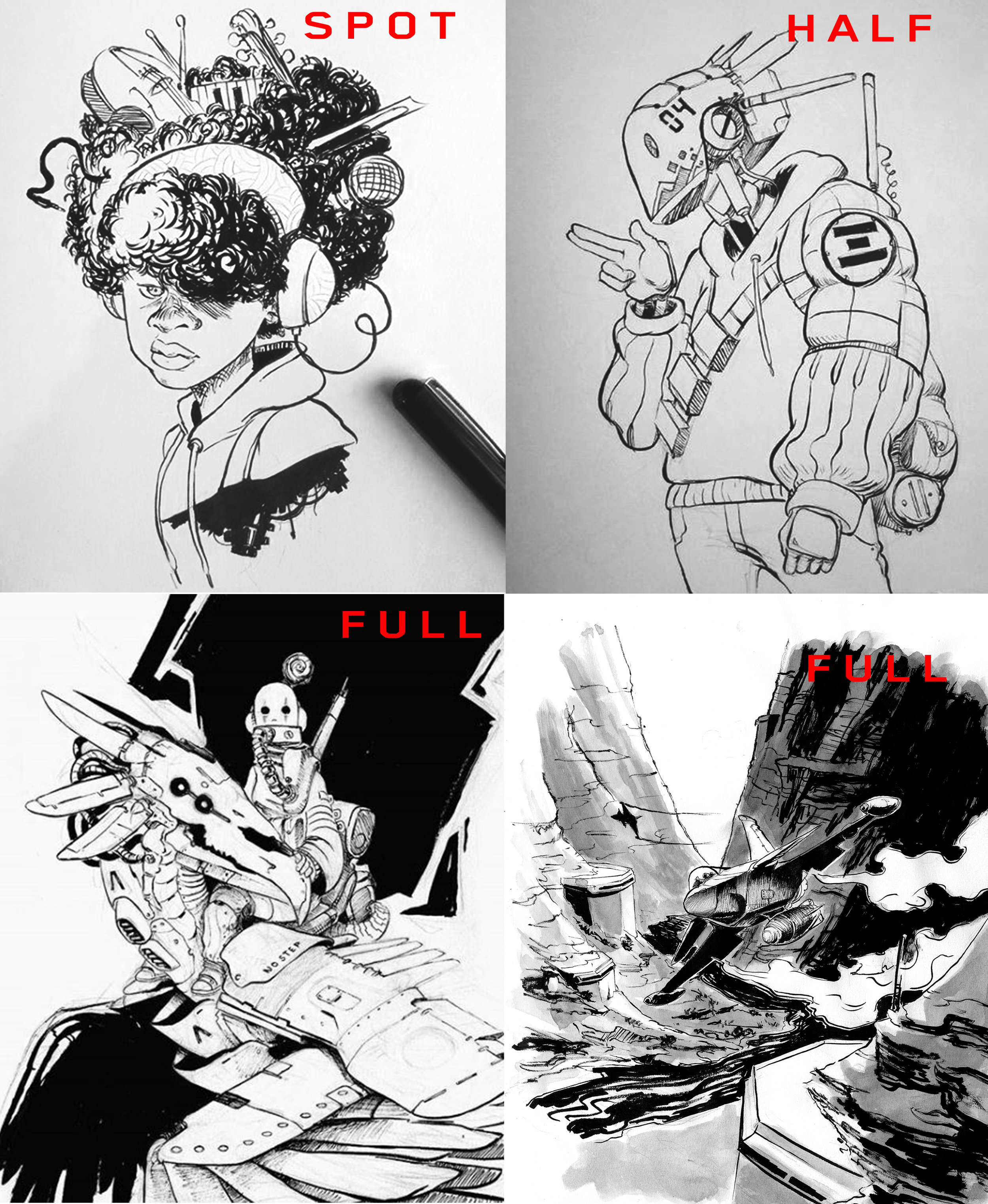 INKED - Spot - $40Half page - $50Full page - $65