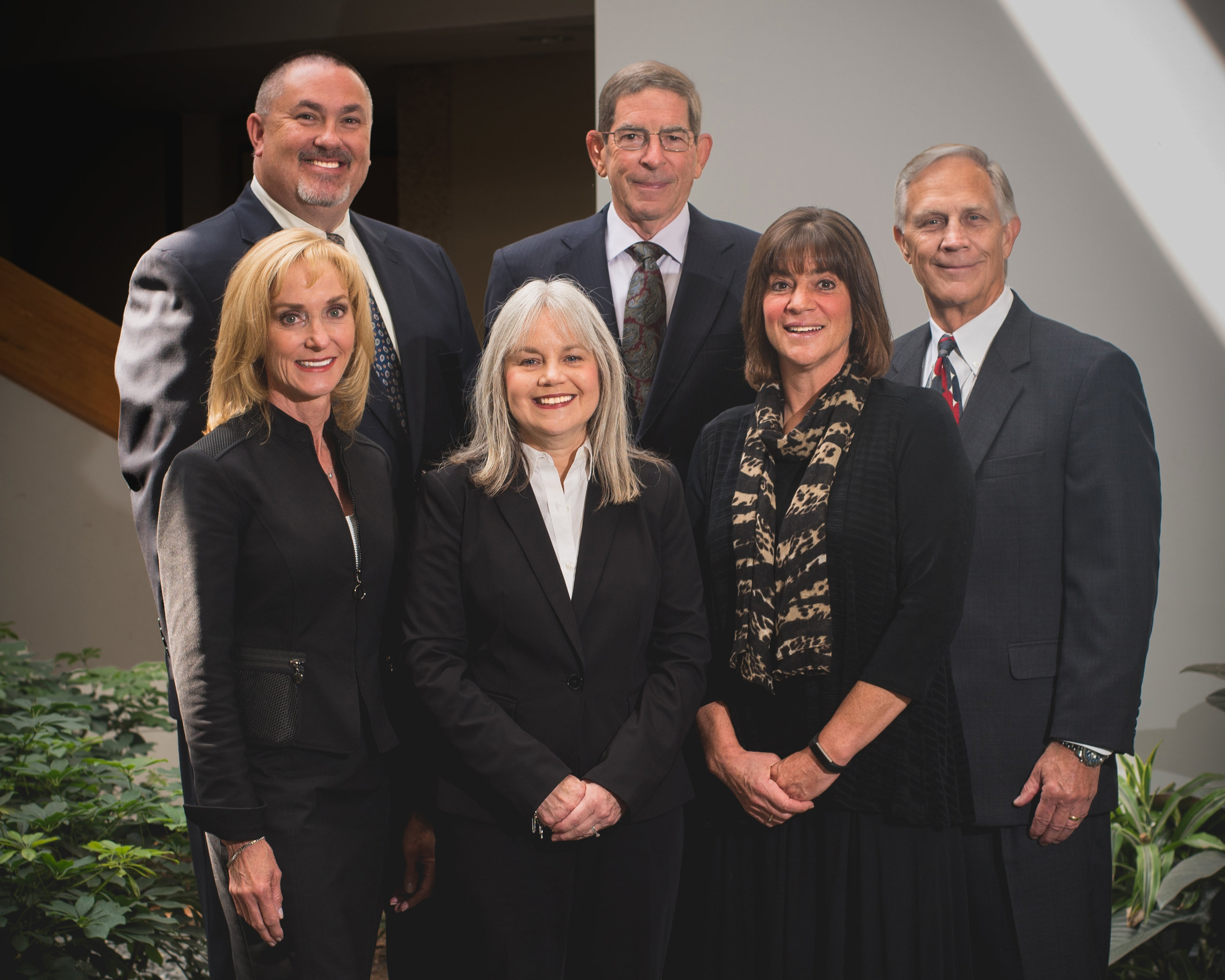 From left to right back row : Chris Ramsey, Jim Huston, Ray Stanley.  Front row : Jill Norris, Liz Smith, Chris Huston