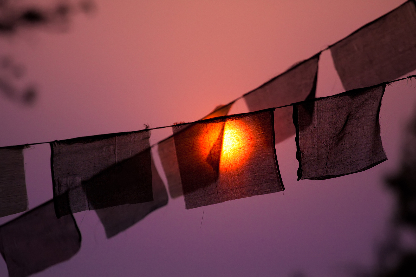 """""""Traditionally, prayer flags are used to promote peace, compassion, strength, and wisdom. The  flags do not carry  prayers to gods, which is a common misconception; rather, the Tibetans believe the  prayers  and mantras will be blown by the wind to spread the good will and compassion into all pervading space."""""""