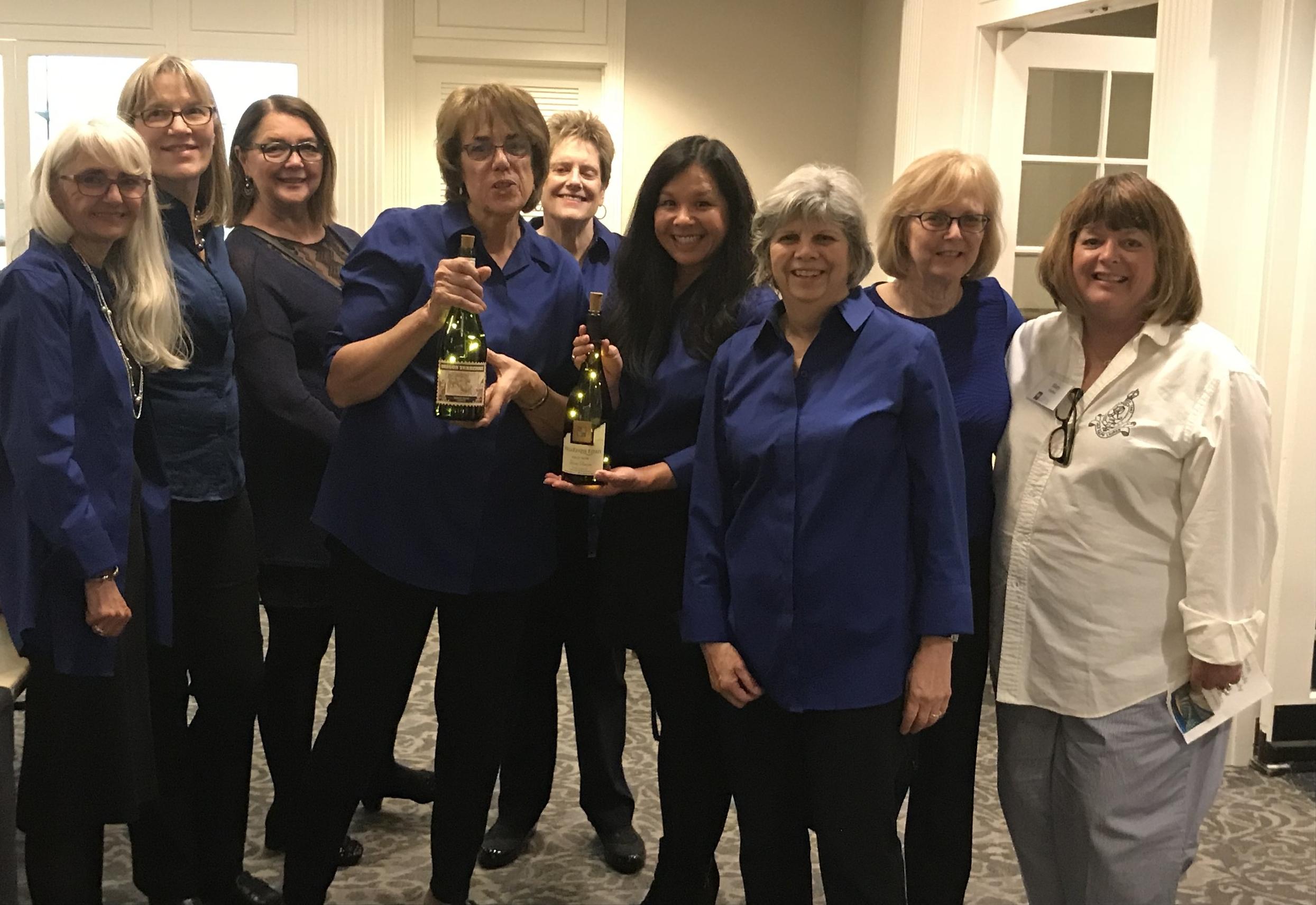 Members of Oswego Friends of Doernbecher after a night of Winefest 2018