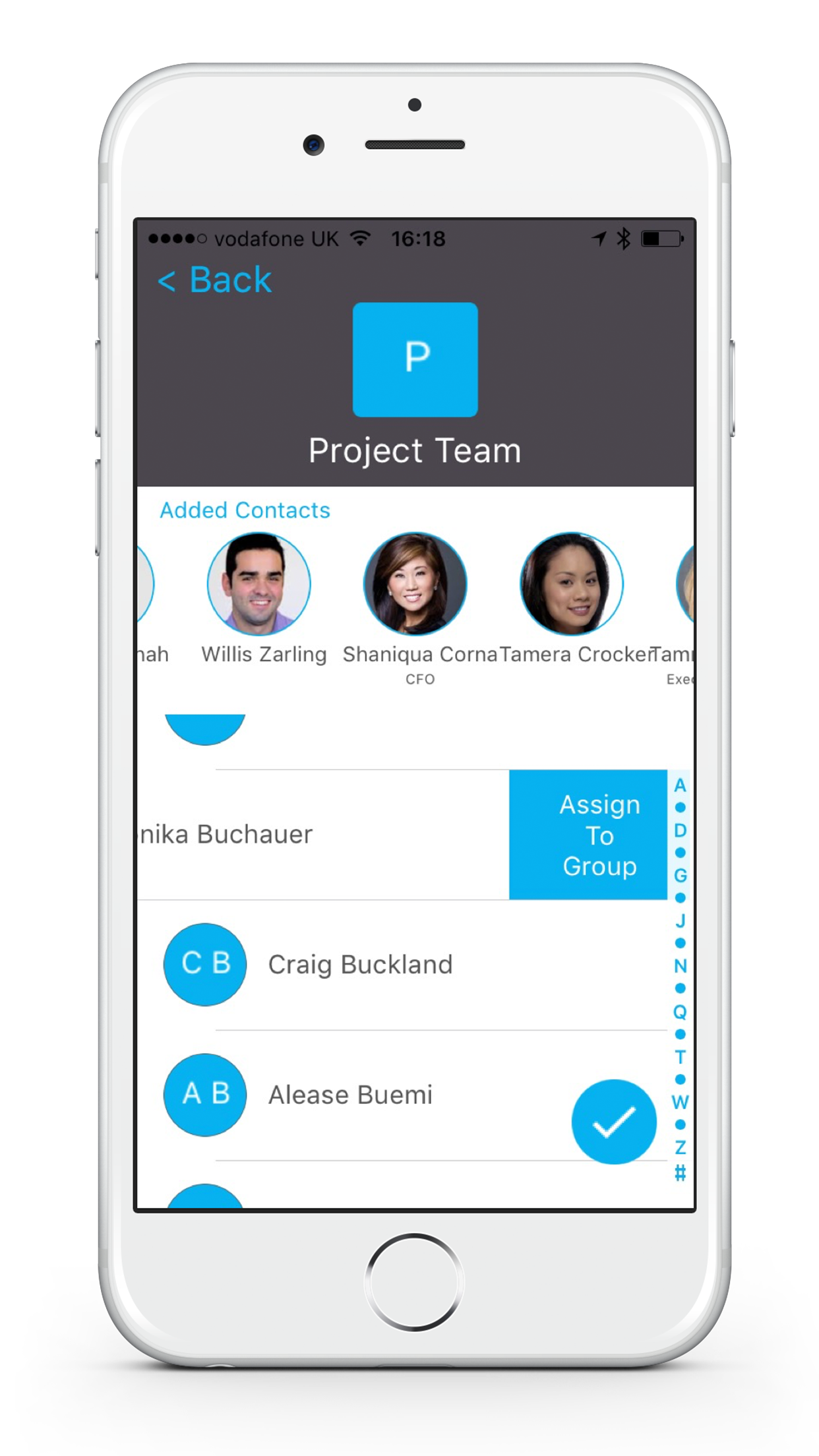 Add Contacts to Group