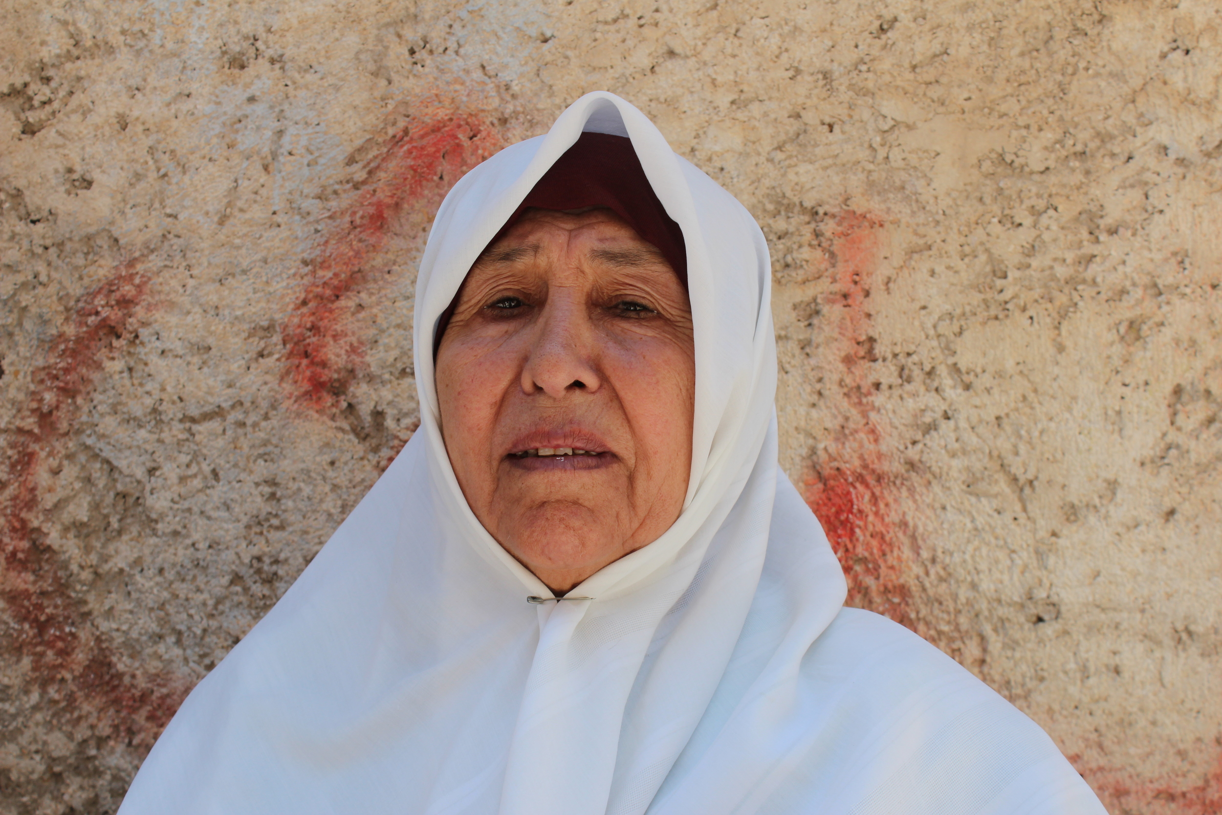 Palestinian refugee Nehady Yousif. Photograph by Edwina Toohey