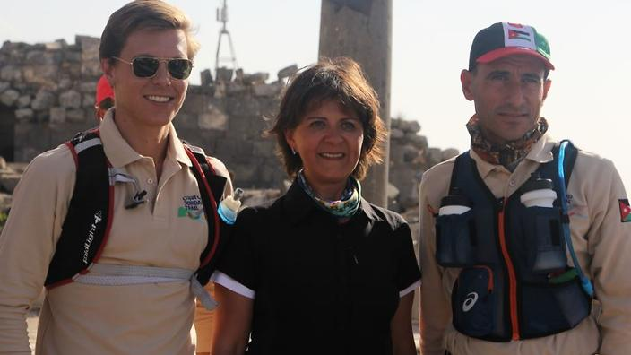 British runner Alfie Pearce-Higgins and Jordanian marathoner Mohammed Al Sweity are the first runners to cross Jordan's new 650 km hiking trail, covering a staggering 650 km in 15 days.