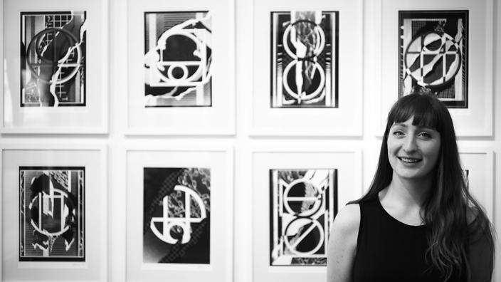 Sydney artist Georgia Hill exhibited her typographical works as part of Amman's 2016 Design Week.
