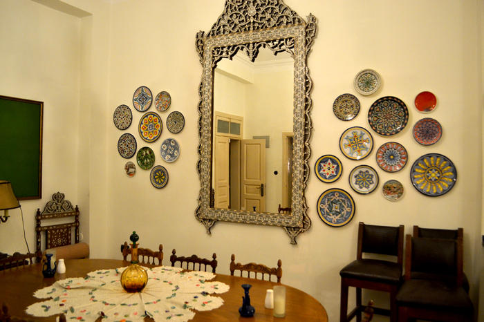 The Beit Sitti dining room, filled with the grandmother's treasures.