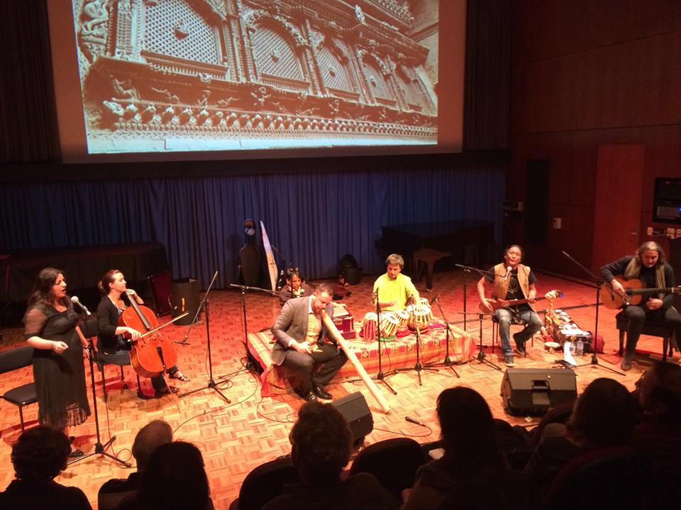 Tenzin Choegyal and others at Play for Nepal concert at Queensland Conservatorium in Australia