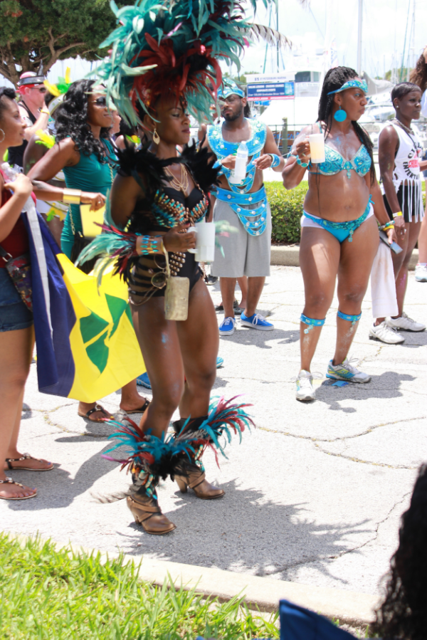 "Ashlee John, a physical fitness instructor known as Fete Fit, attends Carnival each year. ""It's rich in culture, music, and vibe, there's unity, "" she says referring to the Tampa Bay Carnival on Sunday June 7, 2015 in St. Petersburg, FL."