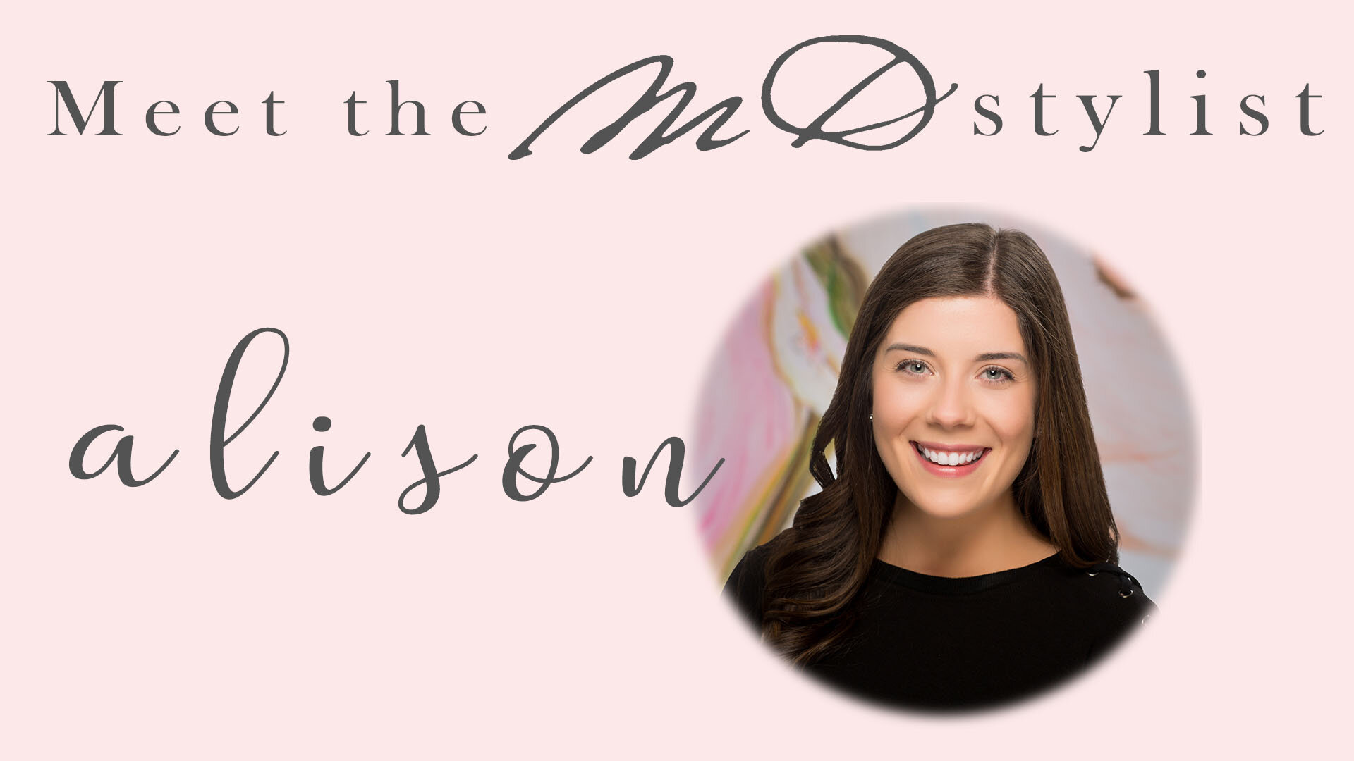 Click the thumbnail to meet Alison!