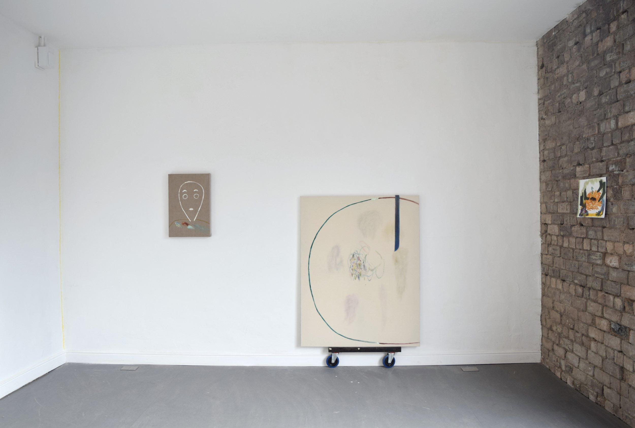 Installation Shot. Group show with Elinor Stanley and Jessica Whitely