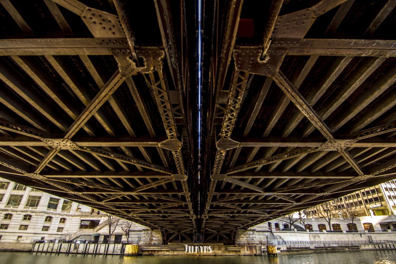 William P.Fahey Bridge, Chicago Riverwalk photo by Jilkyns