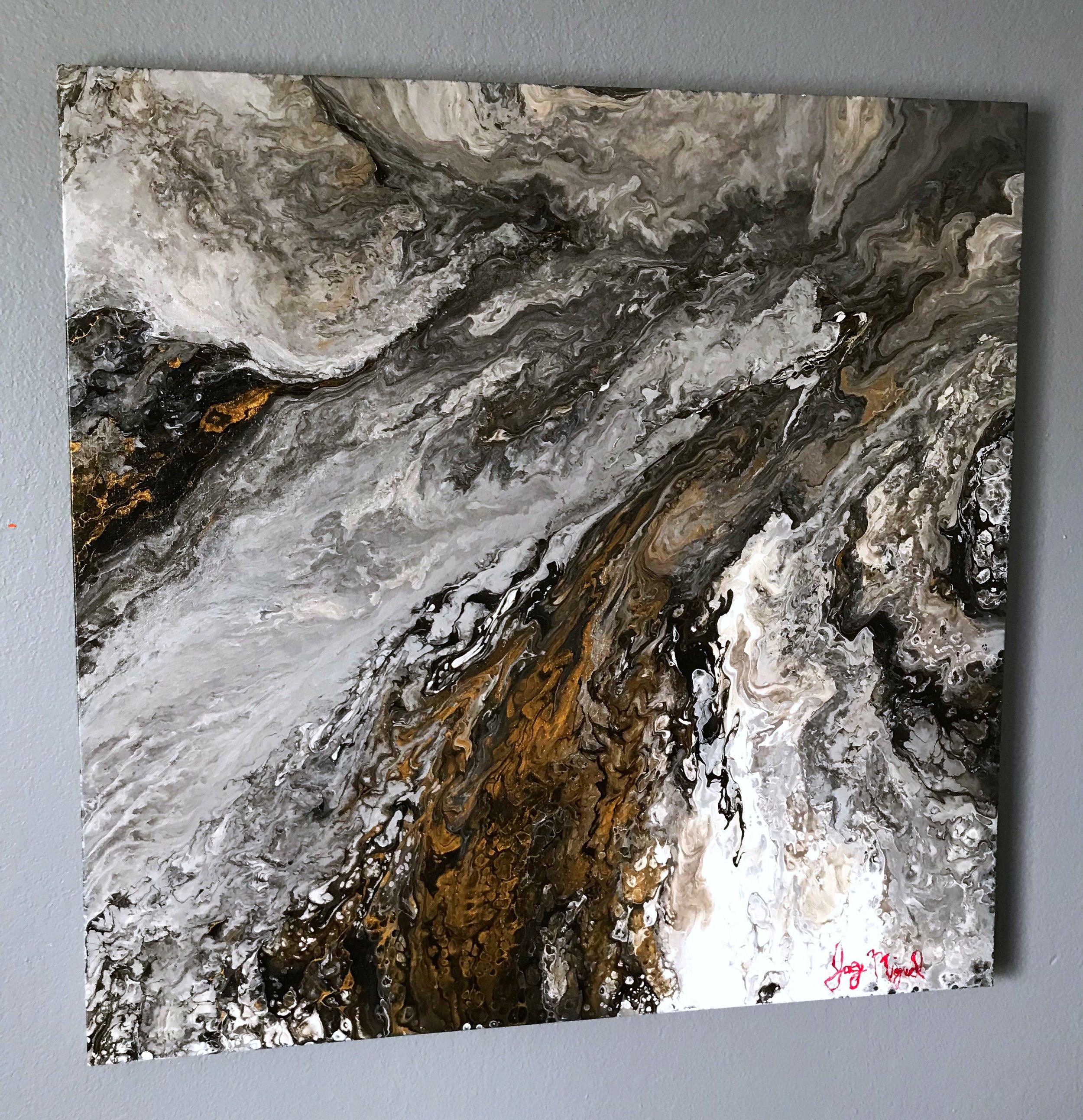 'Zeus'  36'' x 36''  Mixed Media on Canvas  $650